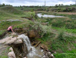 водный каскад у села Каменного