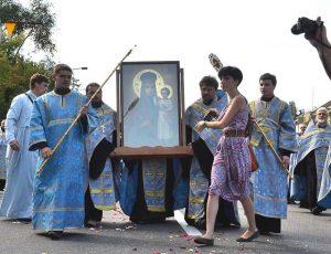 """крестный ход в Запорожье с чудотворной иконой """"Призри на смирение"""""""