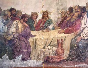 Картина тайная вечеря в храме села Терновка