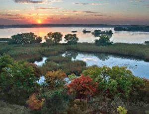 рассвет на реке днепр