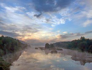 туманный рассвет на реке Тетерев