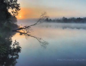 рассвет на реке Тетерев Житомир