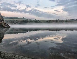 туман над рекой Днепр